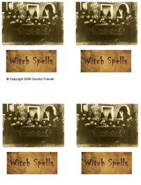 Tag-32   Witch Spells and Tea Party Image