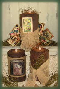 856 Holiday Pillar Candle