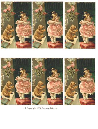 Tag-54 Vintage Teddy Bear Card