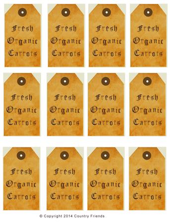 Tag115 (Fresh Organic Carrots)