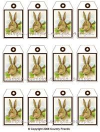 Tag V (Medium size bunny tags)