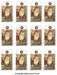 Tag Y (Medium Santa Tag/red hat)