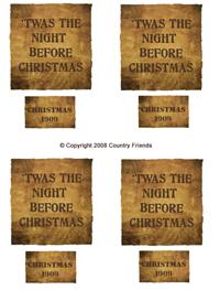 Tag-28    'Twas the night and Christmas 1909