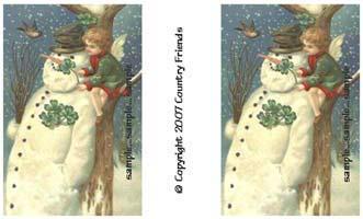 Tag H (Vintage Snowman)