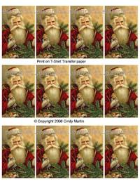 Tag O (Vintage Santa Image)