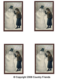 Tag-30   Snowman and Lady image