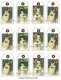 Tag 13  (Medium Vintage Snowman Tags)