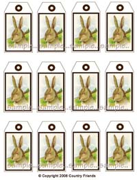 Tag V (Medium size bunny tags)